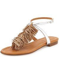 Visconti & Du Réau - Maui Fringed Ankle-strap Sandal - Lyst