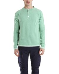 V::room Long Sleeve Raglan Henley In Mint Blue green - Lyst