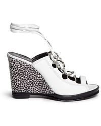 Opening Ceremony 'Kali' Multi Ring Lace-Up Wedge Sandals - Lyst