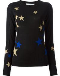 Diane Von Furstenberg Intarsia Knit Star Sweater - Lyst