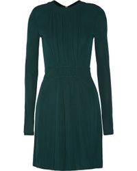 Balmain Pintucked Crepe Mini Dress - Lyst