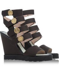 Kenzo Brown Sandals - Lyst