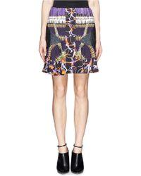 Peter Pilotto Digital Print Flounce Skirt - Lyst