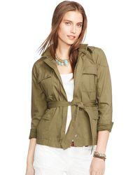 Ralph Lauren Military Cotton Jacket - Lyst