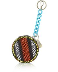 House of Holland - Burger Charm Purse Red/ Purple Viper - Lyst