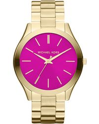 Michael Kors Womens Goldtone Stainless Steel Bracelet 42mm - Lyst
