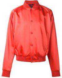 Calvin Klein 'Helsinki' Bomber Jacket red - Lyst