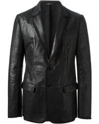 Maison Martin Margiela Black Panelled Blazer - Lyst