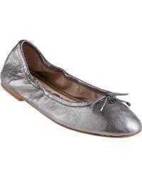 Sam Edelman Felicia Ballet Flat Pewter Leather - Lyst