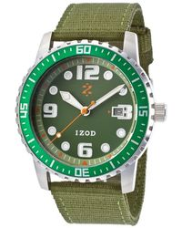 Izod - Men's Eagle Olive Green Nylon And Dial - Lyst