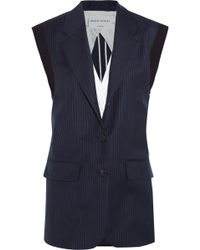 Sonia Rykiel Pinstriped Wool-Twill Vest - Lyst