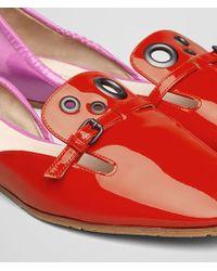 Bottega Veneta - Two-Toned Patent-Leather Ballet Flats - Lyst