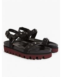 Valentino Men'S Black Studded Sandals black - Lyst