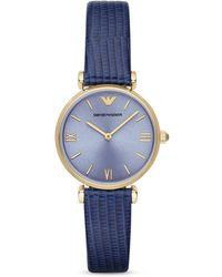 Emporio Armani Round Watch, 32Mm - Lyst