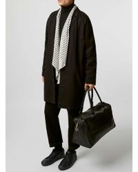 TOPMAN - Premium Black Leather Holdall - Lyst