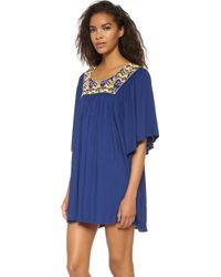 Pia Pauro - Embroidered Beach Dress - Lyst
