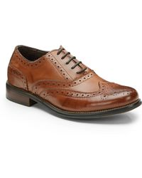 Steve Madden Ethin Leather Oxfords - Lyst