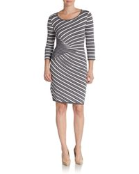Saks Fifth Avenue Black Label Novelty-striped Knit Dress - Lyst