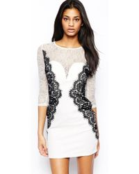 Tfnc Bodycon Dress with Lace Side Detail - Lyst