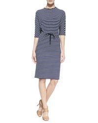 Michael Kors Nautical Striped Jersey Dress - Lyst