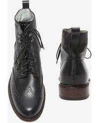 Rag & Bone Cozen Lace Up Boots Black - Lyst