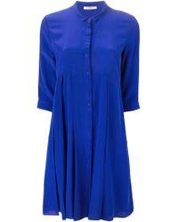 Cacharel Pleated Shirt Dress - Lyst