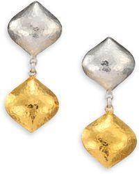 Gurhan Clove 24K Yellow Gold & Sterling Silver Cielo Double-Drop Earrings - Lyst