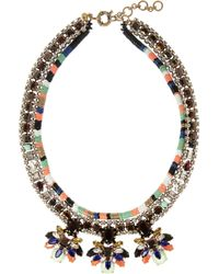 J.Crew - Honeybee Gold Plated Crystal and Cubic Zirconia Necklace - Lyst