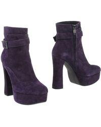 Ash Purple Ankle Boots - Lyst