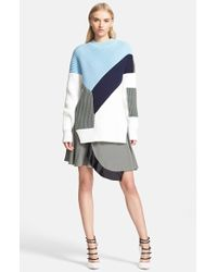 Prabal Gurung Colorblock Chunky Knit Sweater - Lyst