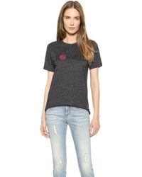 Rodarte Rosarte with Rose T-shirt - Blackred - Lyst