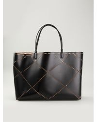 Roger Vivier Perforated Leather Tote - Lyst