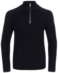Paul Smith | Men's Navy Half-zip Funnel Neck Sweater | Lyst