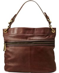 Fossil - Explorer Leather Hobo Bag - Lyst