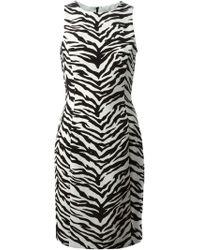 Moschino Cheap & Chic Zebra Print Fitted Dress - Lyst