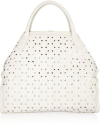 Alexander McQueen De Manta Large Studded Leather Tote - Lyst