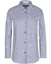 Carven Long Sleeve Shirt gray - Lyst