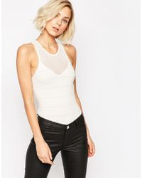 SELECTED - Seamless Body With Mesh V-neck - Lyst