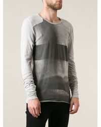 Lost and Found Tonal Print Long Sleeve Top - Lyst