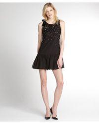 RED Valentino Black Sequin Embellished Dress - Lyst