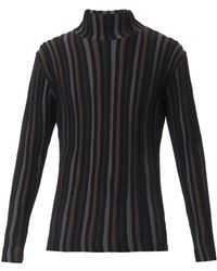 Issey Miyake Ribbedknit Roll Neck Sweater - Lyst