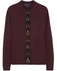 Lanvin Insect-embellished Wool Cardigan - Lyst