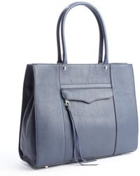 Rebecca Minkoff Blue Leather Medium Mab Tote - Lyst