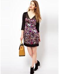Olivia Rubin - Silk Rose Print Dress - Lyst