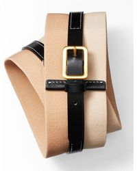 Ann Taylor Colorblock Wide Stretch Belt - Lyst