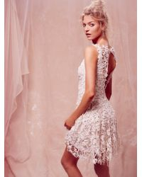 Free People Destroyed in Lace Dress - Lyst