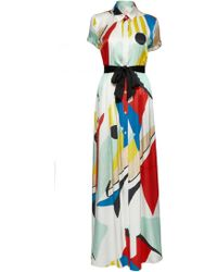 Alice + Olivia Arlen Maxi Shirt Dress - Lyst