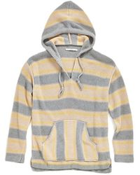 Outerknown - 'lost Horizon' Poncho Stripe Sweater Hoodie - Lyst