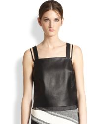 Sachin & Babi Veronica Leather Top - Lyst
