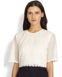 A.L.C. Fremont Crocheted Cropped Top - Lyst